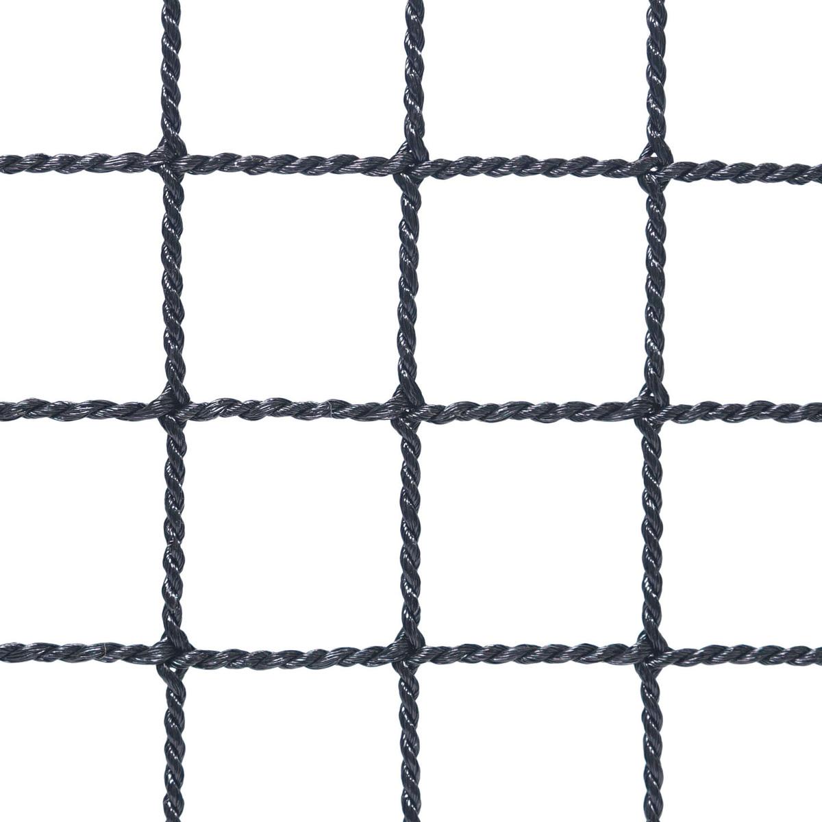 〈ヨリ線ネット25〉目合い:25mm カラー:ブラック