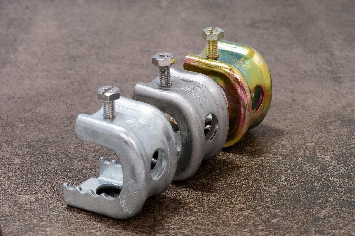 (左より)溶融亜鉛メッキ/ステンレス/電気亜鉛メッキ